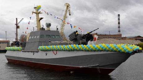 В Украине был спущен на воду артиллерийский бронированный катер