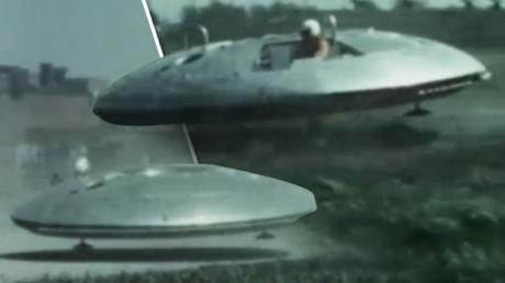 Настоящая летающая тарелка из архивов армии США - засекреченные кадры