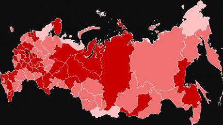В России общее число инфицированных коронавирусом уже почти 100 000