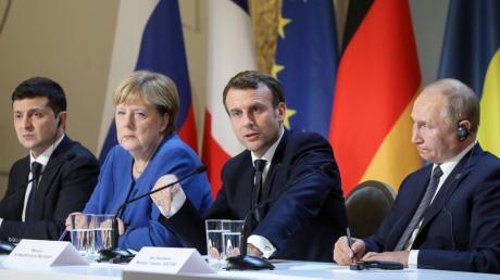 Зеленский, встреча, Париж, Донбасс, Нормандский, формат, РФ, Украина, Меркель