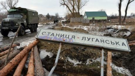 станица луганская, обстрелы, атаки террористов, пограничники, раненые, происшествия, украина