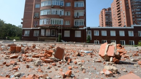 C утра в Донецке неспокойно, слышны залпы и взрывы в районе аэропорта