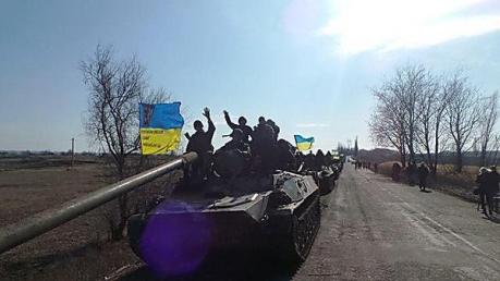 Отвод вооружения продолжается силами АТО при соблюдении боевиками перемирия, - штаб