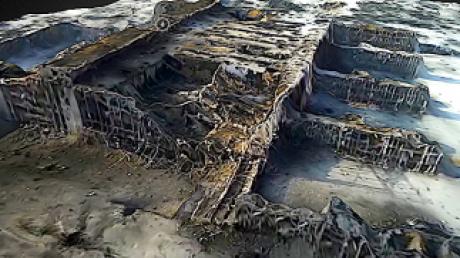 Журнилисты, карта, разрушения, создание, беспилотник, 3D