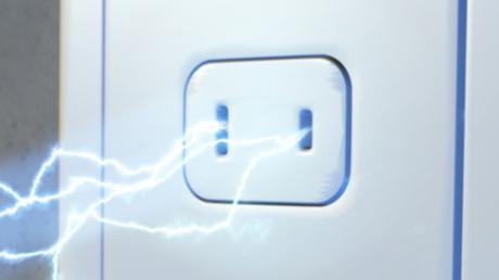 розетка, электричество, удар, молния