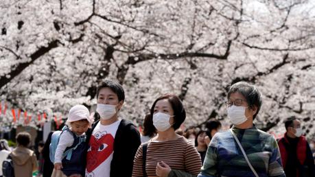 Волна коронавируса охватила Японию – больше тысячи заразившихся