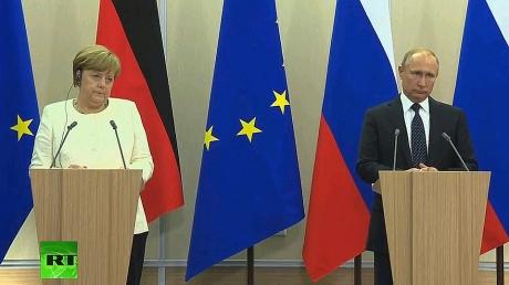меркель, путин, донбасс, заявления, переговоры, сочи
