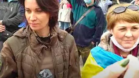 """""""Доберемся до горла"""", - Зверобой сделала резкое заявление на акции """"#Стоп реванш"""" на Майдане, кадры"""