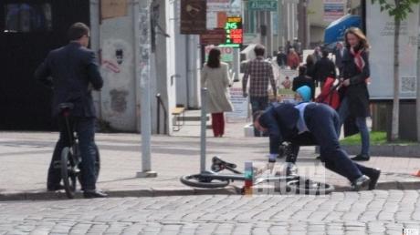 виталий кличко, велосипед, кличко упал с велосипеда, происшествия, мэр киева, фото, украина