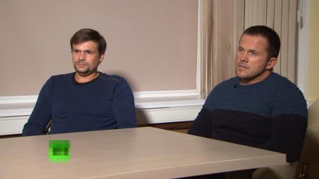 """""""Хотели завершить это дело"""", - подозреваемые по """"делу Скрипалей"""" дали интервью пропагандистке Симонян, кадры"""