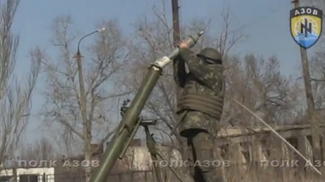 """Минометы """"Азова"""" работают по вражеским позициям под Широкино"""