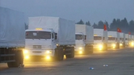 """СБУ: """"гумантирный конвой"""" перевозил разведчика из РФ, он задержан"""
