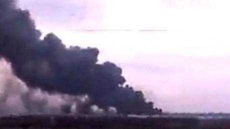 В Авдеевке после обстрела горит грибная ферма Бориса Колесникова