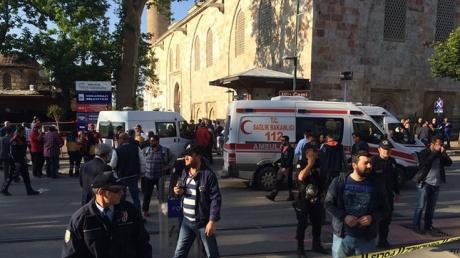 Теракт в Турции: уникальные кадры с места взрыва, вследствие которого 13 человек пострадали и 1 погиб