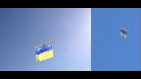 Украина возвращается на Донбасс: патриоты запустили флаг Украины в небе над Донецком - фото привели соцсети в восторг