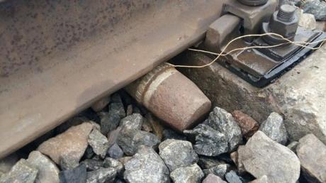 На железной дороге в Донецкой области предотвращен крупный теракт