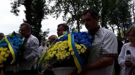 Украина, общество, Польша, мероприятие памяти воинов УНР, Дещица, кадры