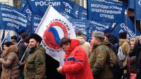 """Участник """"Антимайдана"""" в Москве: Меня заставили"""