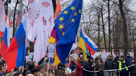 москва, санкт-петербург, россия, марш, протест