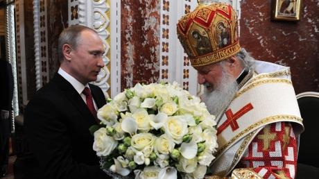 В соцсетях высмеяли подарок, который Путин преподнес патриарху Кириллу