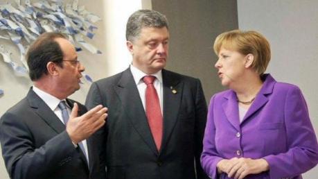 На переговорах Порошенко с Меркель и Олландом о федерализации не было и речи