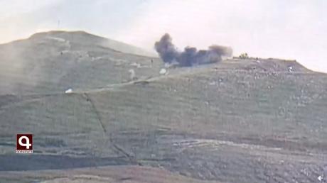 Армения опубликовала видео сильного удара по укреплениям Азербайджана в Карабахе