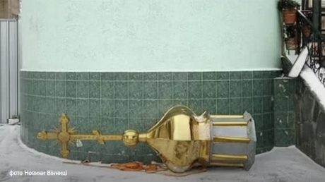 винница, упц мп, пцу, виктор парандюк, демонтаж купола храма, единая церковь украины