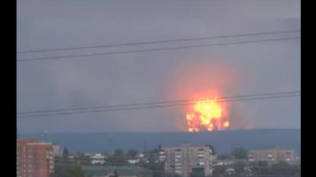 Россия, взрыв, склад, армия, боеприпасы, красноярск, пожар, ачинск, видео