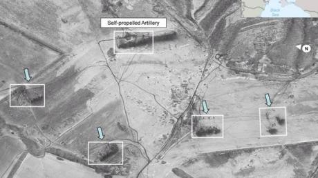 США опубликовало снимки российской техники со спутников под Дебальцево