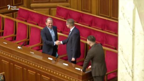 Медведчук пояснил, почему радостно пожимал руку главе СБУ Баканову в Раде