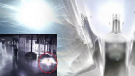Жителям Земли послали весть перед концом света: ангел-пришелец спустился с небес и попал в объектив камеры