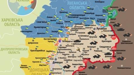 Карта АТО: Расположение сил в Донбассе от 30.03.2016