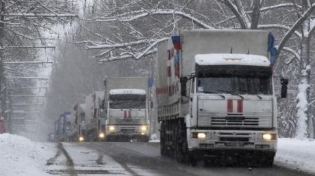 МЧС РФ: 13-й гумконвой для Донбасса готов к отправке