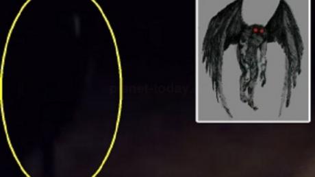 Полицейский из США испытал ужас, когда увидел возле своей машины гуманоида-мофмана с яркими глазами и длинными руками - кадры