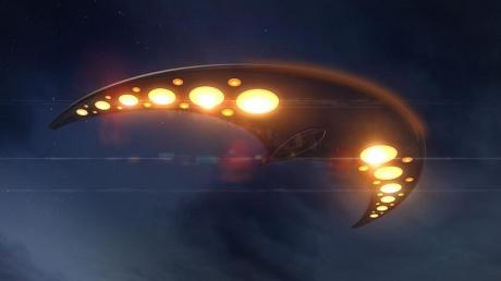 В Керчь прилетел НЛО из будущего, который следил за местным населением: кадры