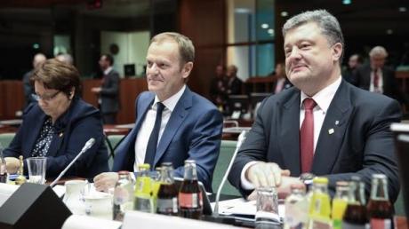 Петр Порошенко участвует в заседании Совета ЕС