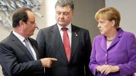 Встреча Порошенко, Меркель и Олланда перешла в расширенный формат