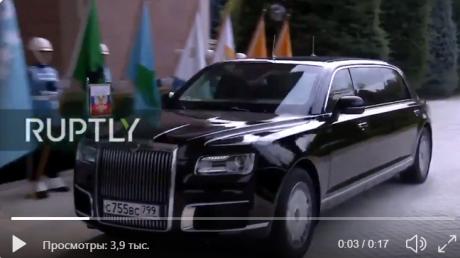 """Лимузин Путина """"опозорился"""" в Турции, подъезжая к резиденции Эрдогана: случилось непредвиденное - видео"""