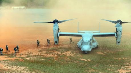"""Кадры высадки десанта ССО ВСУ из конвертоплана V-22 """"Osprey: """"Долетит до Москвы за полтора часа"""""""