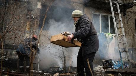 Сводка разрушений Донецка 21 февраля