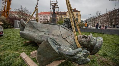 Россия, Чехия, Конев, Памятник.