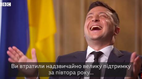 """Зеленский рассмеялся, когда его спросили о падающих рейтингах: """"Люди все видят"""""""