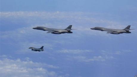 Бомбардировщики США провели учения рядом с КНДР: учения ВВС Америки и Южной Кореи стали ответом на ракетные испытания Пхеньяна