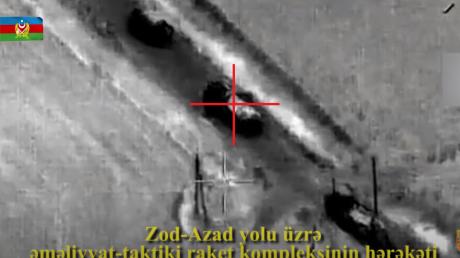 Разгром колонны ракетных комплексов Армении: Азербайджан впервые показал видео ночной атаки