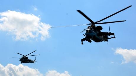 учения, новости, ВСУ, Украина, Генштаб, Донбасс, авиация, вертолеты, Ми-24