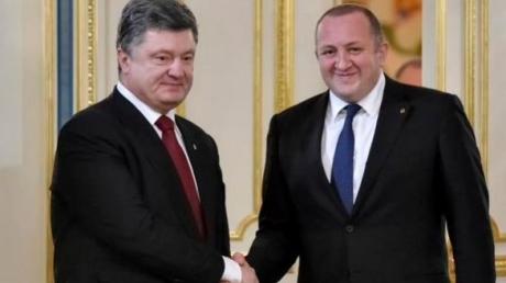 Порошенко обсудил с президентом Грузии возвращение Крыма, Абхазии и Северной Осетии