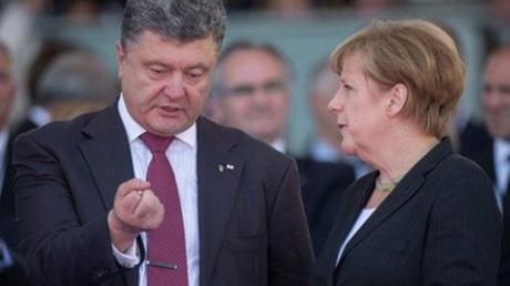Согласовали позиции и цели: Меркель рассказала Порошенко о том, что будет говорить Путину при личной встрече на саммите G20
