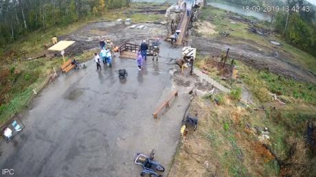 Ремонт моста у Станицы Луганской онлайн: Украина установила видеонаблюдение за объектом