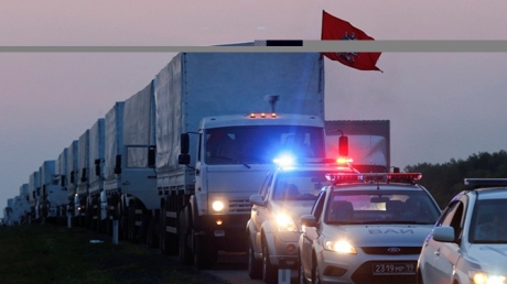 МЧС: Автомобили с российской гумпомощью для Донбасса выдвинулись к границе России