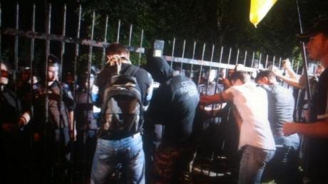 новости, Украина, Киев, штурм, райотдел, полиция, видео